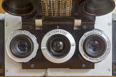 Seeing in Stereo (vtom61) Tags: stereorealist vintagecamera stereophotography lens cameralens sonya7r smcpentaxm50mmf4macro davidwhitecompany