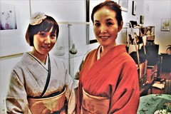 Kayo & Yoko (JuhaOnTheRoad) Tags: woman girl kimono brooklyn newyork film