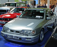 Ford Sierra Sapphire Cosworth (JoRoSm) Tags: nec classic motor show motorshow carshow classiccars necclassic autos automobile automobiles cars vehicles automotive petrolheads canon tamron 1750 f28 dpp raw processing ford performance sierra sapphire cosworth silver saloon tuned 90s 1990s