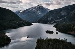 Lake Diablo (Sony J Thomas) Tags: landscape lake mountin clouds washington nationalpark diablo northcascades