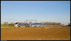 Eurostar 3229/3230 @ Enghien (Steven De Haeck) Tags: enghien edingen hainaut henegouwen belgië belgique lijn94 eurostar tmst transmanchesupertrain e300 hst hogesnelheidstrein highspeedtrain herfst brussel bruxelles london tgv