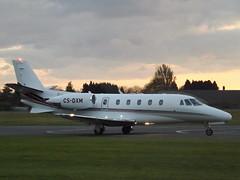 CS-DXM Cessna Citation Excel 560XL (NetJets Europe) (Aircaft @ Gloucestershire Airport By James) Tags: kemble airport csdxm cessna citation excel 560xl netjets europe bizjet egbp james lloyds