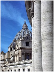 St. Peter's Basilica and Colonnades (Cad-Kyiv) Tags: italy rome vatican architecture church cathederal colonnade architecturaldetail dome