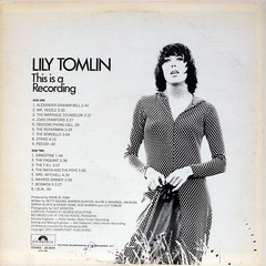 This Is A Recording - Back Cover (epiclectic) Tags: 1971 lilytomlin comedy backcover epiclectic vintage vinyl record album art retro music sleeve collection lp cover epiclecticcom