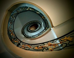 stairal (xnoemi.) Tags: stairs staircase berlin spiral treppen visual architecture handrail