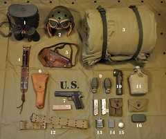 WW2 U.S. Armored Crew Personal Items & Individual Equipment (Wing attack Plan R) Tags: armoredcrewman tanker battleofthebulge winter194445 m4sherman tank equipment fieldgear eto