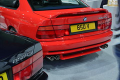 BMW 850 CSi (JoRoSm) Tags: nec classic motor show motorshow carshow classiccars necclassic autos automobile automobiles cars vehicles automotive petrolheads canon tamron 1750 f28 dpp raw processing bmw 850 csi red black taillights lights details quad exhaust