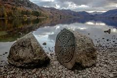 Millennium stones 2 (allybeag) Tags: millenniumstones derwentwater centenery nt nationaltrust calfclosebay peterrandallpage sculpture rocks lake
