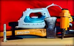 BRIAN (-Brian Blair-) Tags: name axe bolt nail gun steam iron rail metal brian red blue yellow