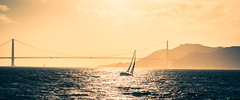 The Golden Gate (AAcerbo) Tags: sanfrancisco california sunset bay light cinematic widescreen goldengatebridge sailing sailboat silhouette