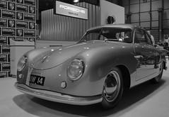 Porsche 356 (JoRoSm) Tags: nec classic motor show motorshow carshow classiccars necclassic autos automobile automobiles cars vehicles automotive petrolheads canon tamron 1750 f28 dpp raw processing german porker porsche performance 356 silver mono monochrome bw blackandwhite