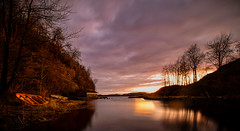 Sunset in the cove. (jan-reri) Tags: norway bergen nature sunset water bay creek cove boats seascape
