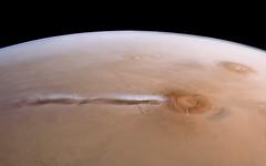 Arsia Mons Cloud - Mars Express (jccwrt) Tags: tharsis arsiamons cloud mars marsexpress hrsc esa