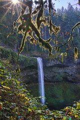 Water fall with a flare (BorrowedLightPhoto) Tags: oregon silverfalls hike canon tamron 1750 7dii waterfall borrowedlightphoto