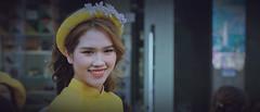 Beauty (khoitran1957) Tags: girl wide widescreen women woman portrait beauty beautiful yellow aodai