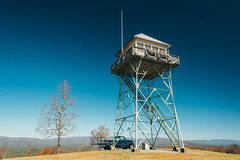 Panther Top Lookout Tower (J. Parker Natural Florida Photographer) Tags: appalachia appalachians blueridge blueridgemountains carolina murphy northcarolina pantherknob panthertop panthertoptower autumn fall hikie hiking trail nantahalanationalforest tower firetower bald