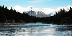 Banff National Parkway (Mr. Happy Face - Peace :)) Tags: alberta canada banff bowriver forest hiking art2019 sky mountains rockies autumn snow ice wilderness