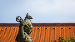 Divine General ~ Explored #13 (Theen ...) Tags: hongkong generalvikarala twelvedivinegenerals leaves plaza lantauisland grey rat monastery tree roof polin green sky orange ngongping terracotta