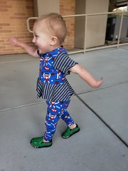 Ministry of Silly Walks recruit (quinn.anya) Tags: eliza toddler sillywalk crocodileshoes