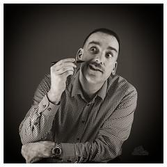 Movember 10: creative license (_Matt_T_) Tags: smcpdfa50mmf28macro selfie portrait movember fun bw dailyinnovember af540fgz apolloorb43 scrim autoportrait 365 westcott cactusv6 af360fgz humor