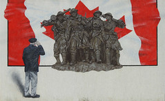 Remembrance Day 2019 (scilit) Tags: remembrance remembranceday vets veteransday armistice soldiers flag salute canada mapleleaf mural outdoormural publicart arthur ontario