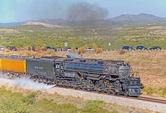 Union Pacific 4-8-8-4 Big Boy 4014 in eastern Pima County, Arizona, October 19, 2019. (Ivan S. Abrams) Tags: unionpacificbigboy4014 steamlocomotive bigboy 4884 tucson arizona pimacounty bensonarizona bowiearizona tucsonarizona sunsetroute southernpacific cochisecounty alco trains
