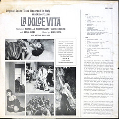 La Dolce Vita - Back Cover (epiclectic) Tags: 1961 movie soundtrack backcover epiclectic vintage vinyl record album art retro music sleeve collection lp cover epiclecticcom