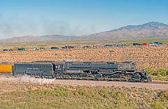 Union Pacific 4-8-8-4 Big Boy 4014 on the Sunset Route near Marsh Station Road in eastern Pima County, Arizona, October 19, 2019. (Ivan S. Abrams) Tags: unionpacificbigboy4014 steamlocomotive bigboy 4884 tucson arizona pimacounty bensonarizona bowiearizona tucsonarizona sunsetroute southernpacific cochisecounty alco trains