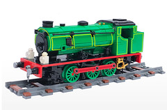 LEGO Hunslet Austerity NCB 0-6-0ST 'Whiston' (Britishbricks) Tags: lego moc train engine steam loco ncb whiston hunslet austerity j94 octrainber
