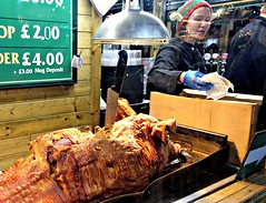 Hog Roast at the Manchester Christmas Markets 2019 (Tony Worrall) Tags: manchester market festive stall foodies cook yummy eat made xmas christmas gmr annual event show welovethenorth nw northwest north update place location uk england visit area attraction open stream tour country item greatbritain britain english british gb capture buy stock sell sale outside outdoors caught photo shoot shot picture captured ilobsterit instragram people candid fun dailyphoto photohour hog pig roast meat woman cooking pork