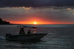 Let's meet where the sun kisses the ocean. (Lara.C.) Tags: sky thebeautyofnature nature water ocean beach mauritius sunset sunsets