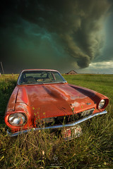 """Tempest"" (HomeGroenPhotography) Tags: chevy tempest aviolentwindystorm chaos severeweather tornadowarned shelfcloud heavyrainwinds hail hailcore rotatingsupercell aarongroen homegroenphotography prints vega chevyvega abandoned"