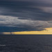 Dramatic storm with hurricane during typhoon in Indian ocean, View from sailing yacht       XOKA0163bs