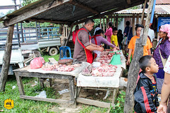 Butcher in Local market of Nongkhiaw, Laos (Uralistan.roadtrip) Tags: laos tradition culture voyage travel travelling traveling voyager asia asie asiedusudest southeastasia market localmarket marché marchélocal nongkhiaw countryside campagne rural boucher butcher