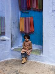 Child in Chefchaouen (JLM62380) Tags: afrique africa child girlie fillette enfant chefchaouen morocco town ville bleu blue door porte rue street