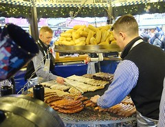 German Sausages at the Manchester Christmas Markets 2019 (Tony Worrall) Tags: christmas xmas festive event annual german manchester greatermanchester foodies eat stalls goods welovethenorth nw northwest north update place location uk england visit area attraction open stream tour country item greatbritain britain english british gb capture buy stock sell sale outside outdoors caught photo shoot shot picture captured ilobsterit instragram