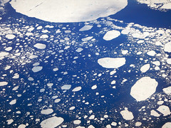 Aerial of floating ice in a frozen ocean seen from Icelandic air (albatz) Tags: aerial floating ice frozen ocean icelandic air