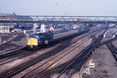 English Electric on the ECML (semi46243) Tags: ecml class40 englishelectric doncaster 40024 2d95 cleethorpesdoncaster ecsredbank march1981 brblue mk1s