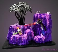 Clone Wars: Obi-Wan Kenobi vs. Cad Bane (jaapxaap) Tags: lego moc by jaapxaap starwars clonewars cad bane obiwan kenobi purple pink teth afol vignweek contest rebellug