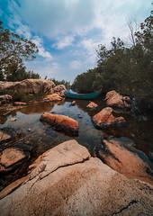 Boat side (Cadicxv8) Tags: landscape lake sky boat rock stream hococ vietnam
