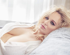 Unposed Glam (KellyKooper) Tags: davelucasphotography kellykooper glam relaxed lingerie smoky eyes sultry white