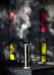 Steam (ainz1607) Tags: steam chimney windows tower colour red yellow building olympus omd em10 block urban
