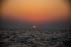 Dramatic Sunset, Abu Dhabi (Bluebullet1) Tags: sunset sun water sea orange blue outside sky light nature landscape colour