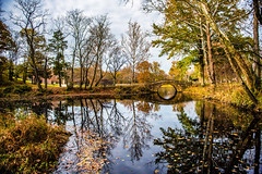 The tale begins here. (Igor Danilov Philadelphia) Tags: bridge fall autumn november fairytale story fiction pond reflection image imagination tolkien