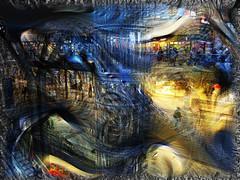 Hauptbahnhof (seguicollar) Tags: art arte artedigital texturas virginiaseguí imagencreativa photomanipulation filterforge hauptbahnhof estación tren berlín gente personas arquitectura