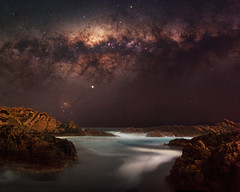 Milky Way at Canal Rocks, Western Australia (inefekt69) Tags: milky way stars space canal rocks yallingup dunsborough ocean milkyway southern hemisphere western australia dslr long exposure rural 50mm d5500 night photography nikon astronomy galaxy landscape astrophotography outdoor core great rift ms ice panorama ioptron skytracker hoya red intensifier filter sea