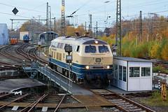 P1970465 (Lumixfan68) Tags: eisenbahn loks baureihe 218 dieselloks conny db regio westfrankenbahn drehscheibe