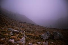 Alone in this magical mist (valentinlelong) Tags: trek mountain mist fog clouds trekking pyrénées wild
