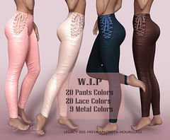 High rise lace up Pants (DarkFire Store) Tags: darkfirewip secondlifemesh secondlife slfashion maitreya legacy freya isis hourglass virtual originalmesh fashion