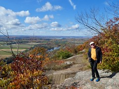 Day 16 - Returning to Calgary from Halifax, with a stopover in Ottawa - Ben at a viewpont, Gatineau Park, Québec (benlarhome) Tags: ottawa gatineau ontario quebec canada autumn fall